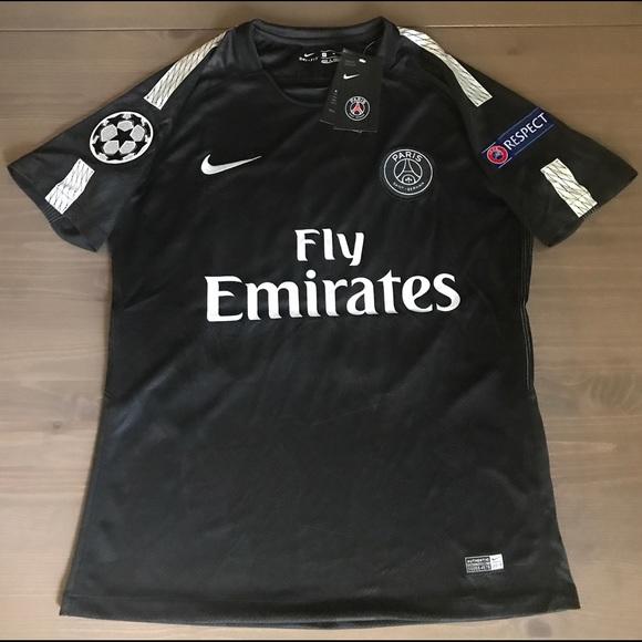 uk availability 512c8 18d3e PSG Neymar Jr. #10 soccer jersey champions league NWT